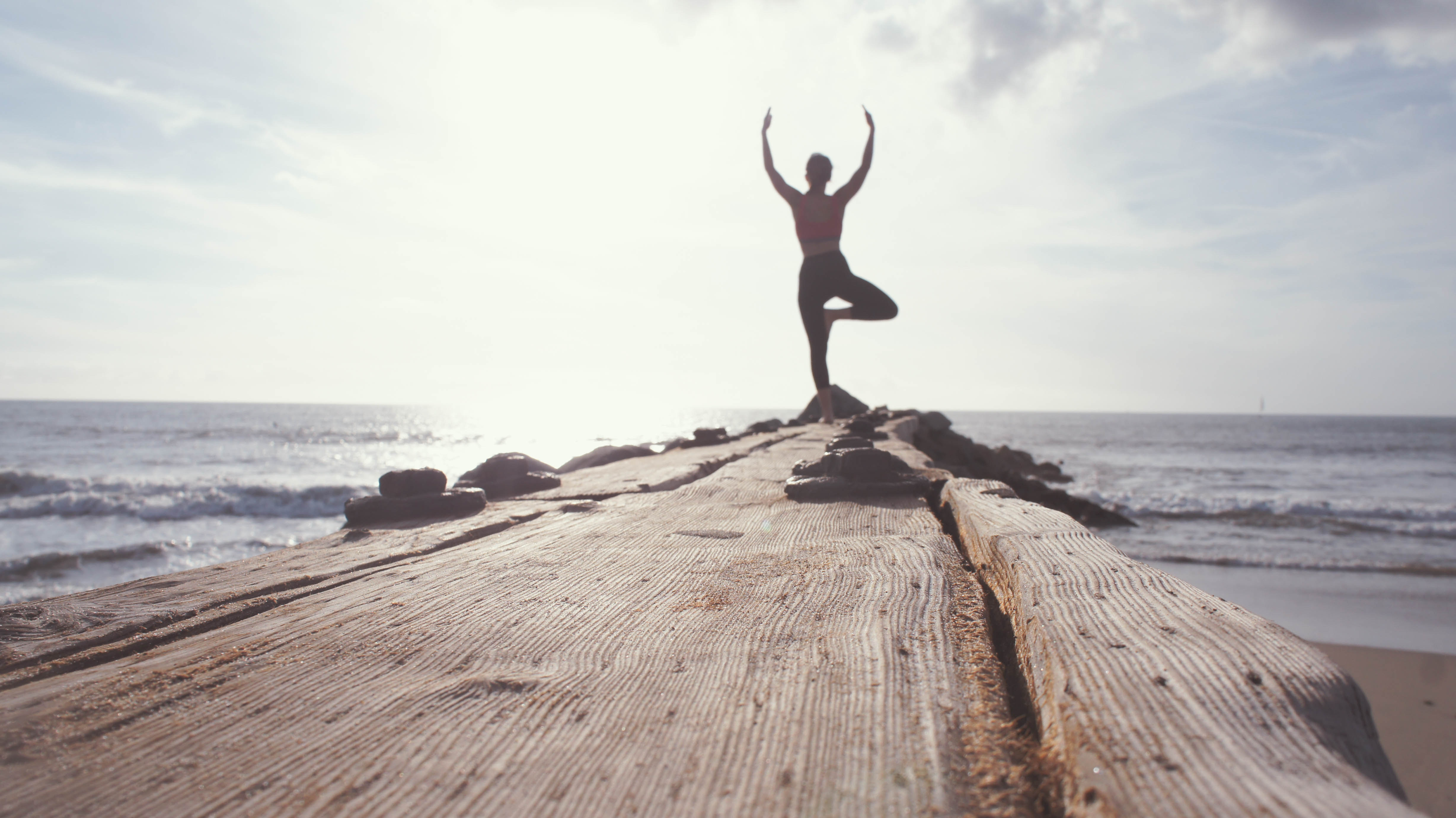 Surf yoga in South Africa