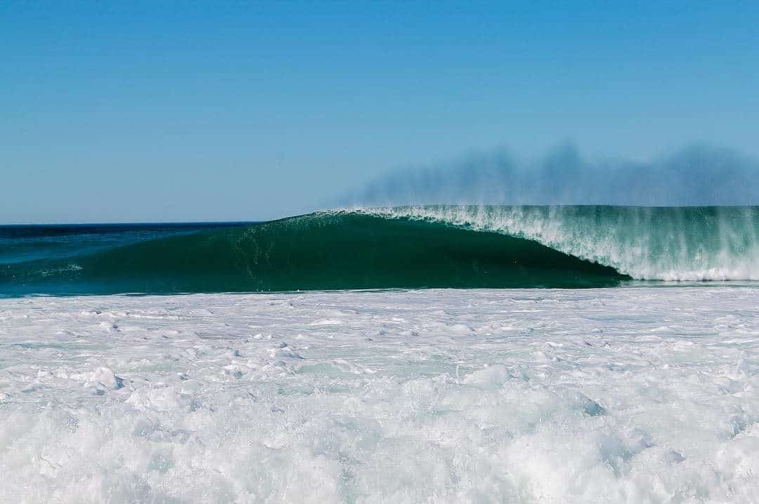 big barrelling wave up the West Coast. Uncrowded surf destination in South Africa.