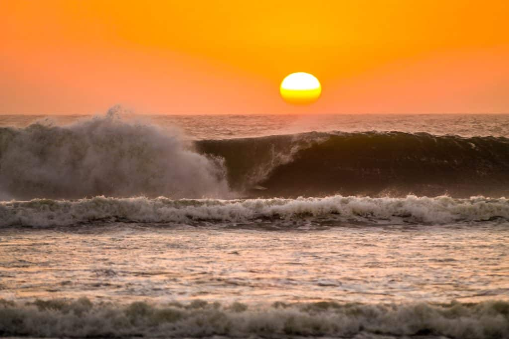 Wave in Skeleton Bay, Namibia. This wave is famous for surfing.