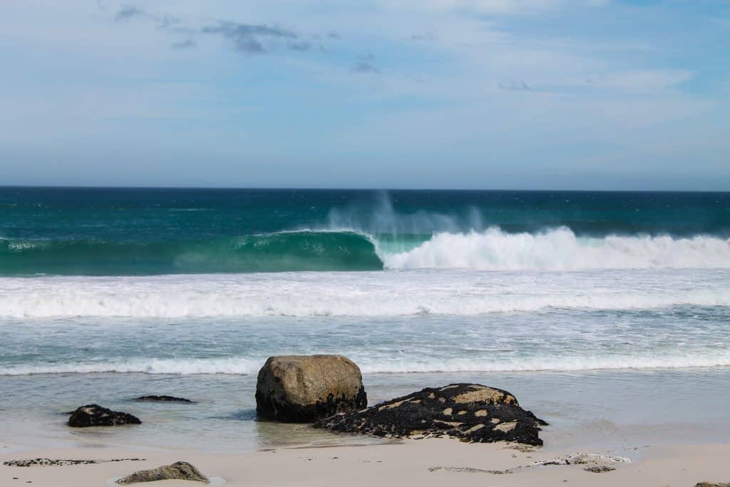 Uncrowded surf destination with empty wave.