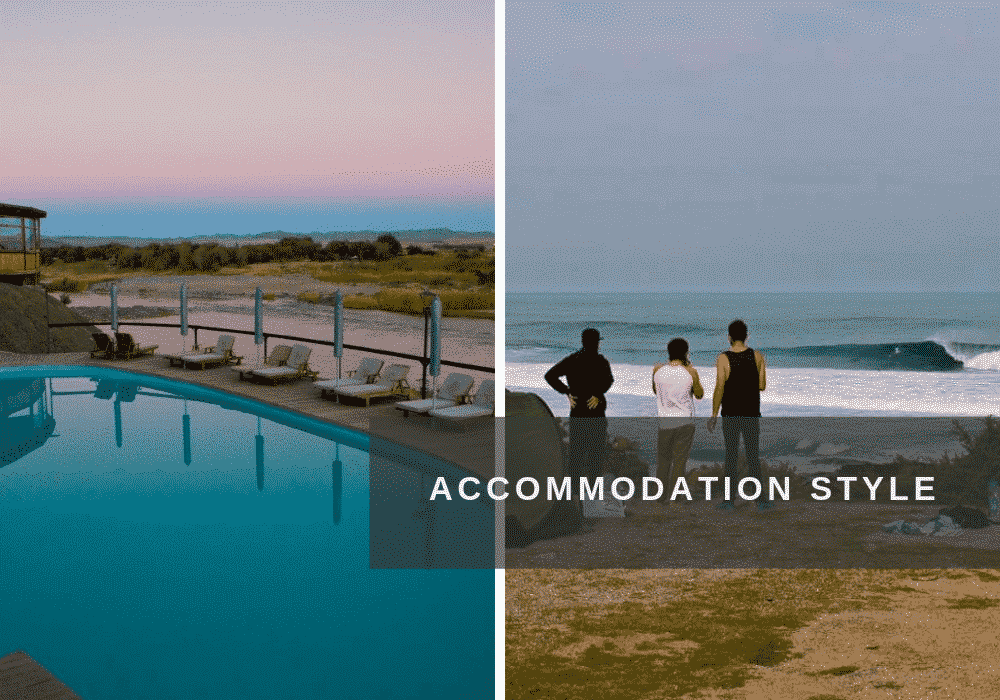 Different accommodation options while on surf holiday in South Africa.