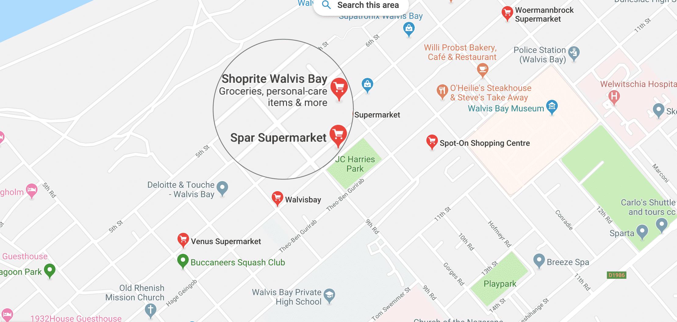 Supermarkets in Walvis Bay